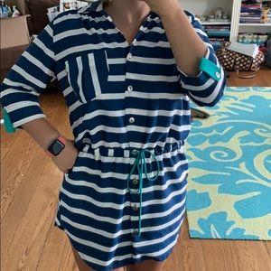 Lucy Love blue and white striped sailors dress